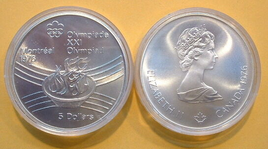 Canada 1976 Olympic 5 Silver Coin No 28 Ebay