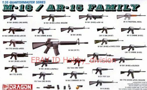 Dragon 3801 1 35 m 16 ar 15 family ebay for My blueprint arkansas