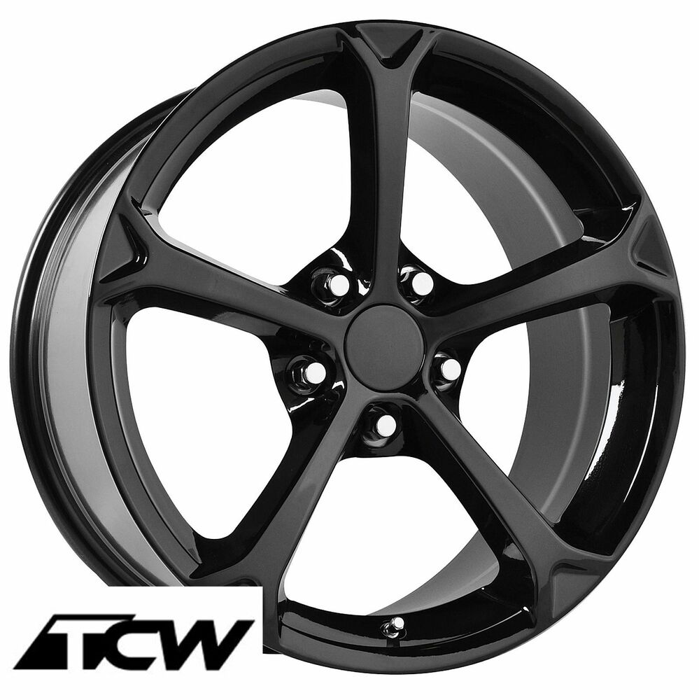 17 18 Inch Corvette C6 Grand Sport Gloss Black Oe Replica Wheels Rims Fit C5 Ebay