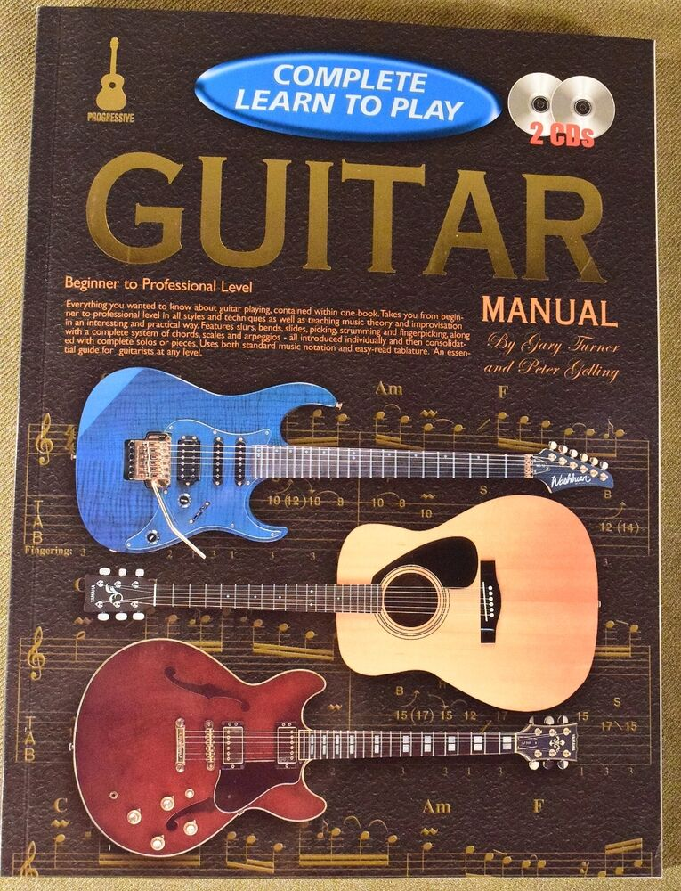 complete learn to play guitar manual ebay. Black Bedroom Furniture Sets. Home Design Ideas