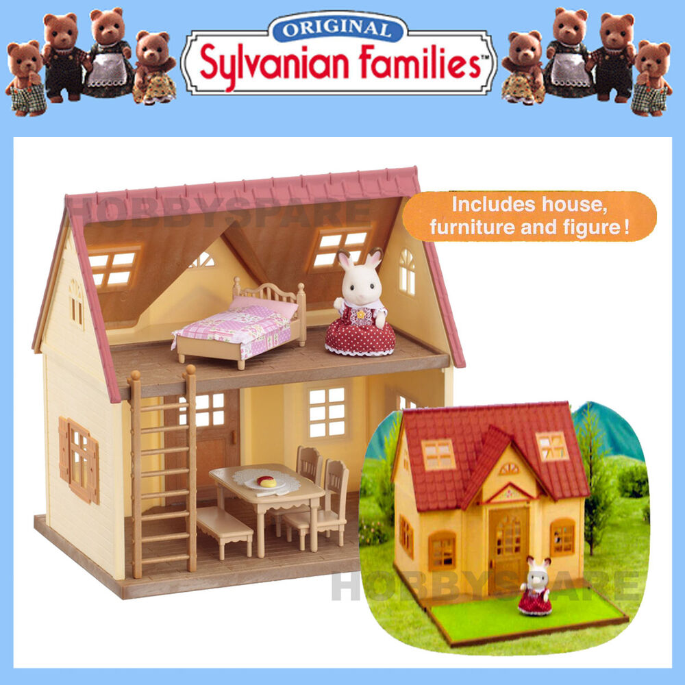 New sylvanian families cosy cottage home with furniture for Sylvanian classic furniture set