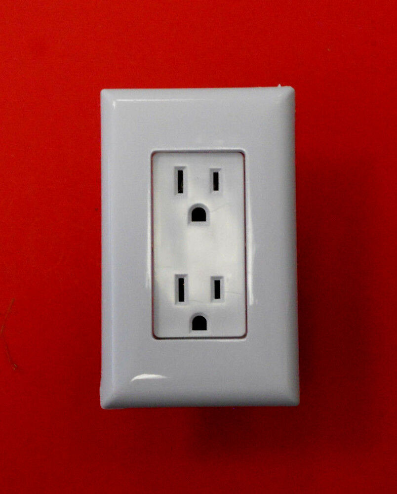 mobile home rv parts self contained outlet includes cover plate white ebay. Black Bedroom Furniture Sets. Home Design Ideas