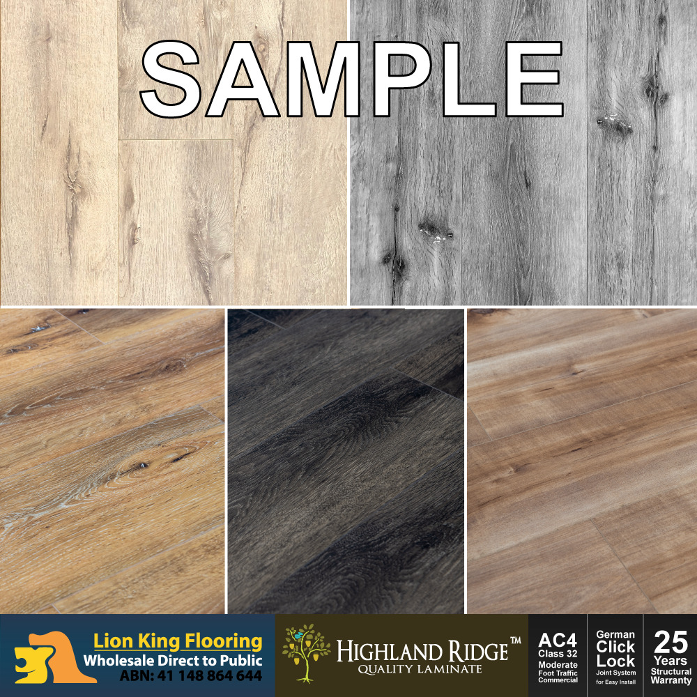 Highland Ridge Laminate Flooring Premium Floating Floor Sample Pack 5 Colours
