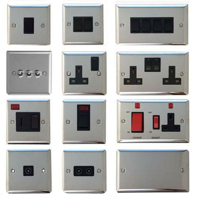 volex polished chrome light switches and electrical. Black Bedroom Furniture Sets. Home Design Ideas