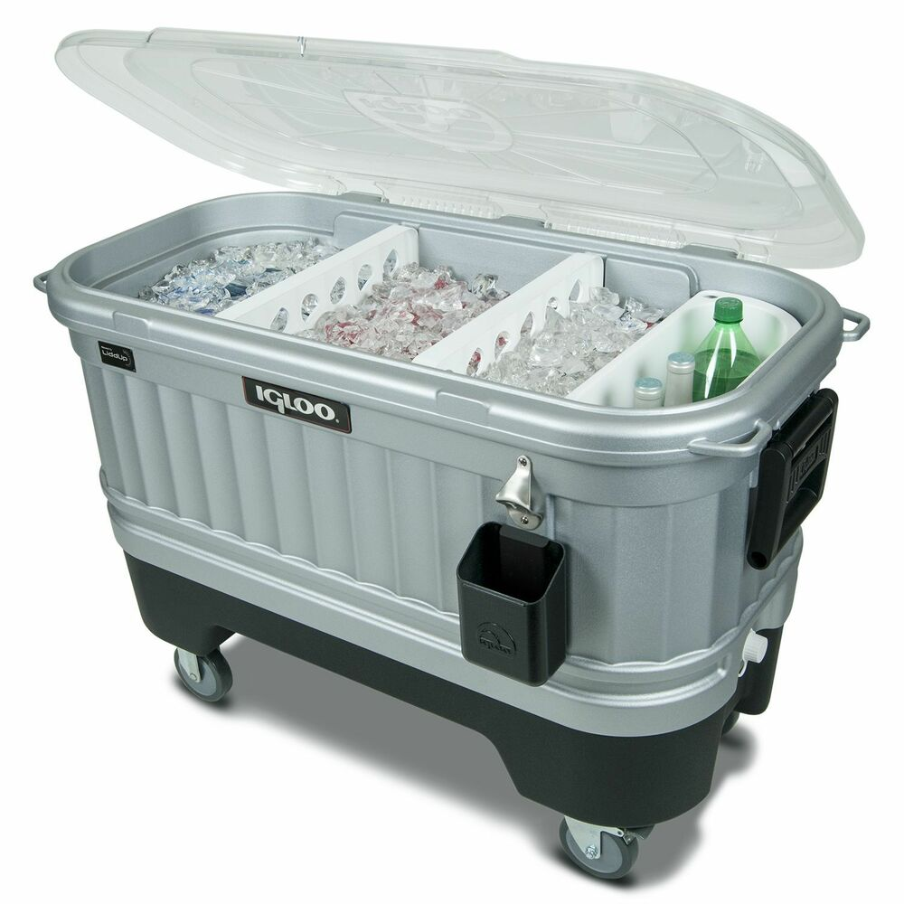Ice Box Cooler : Igloo ice chest quart party cooler bar