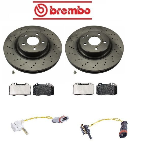 Mercedes w211 e350 base 2006 2009 front disc brake rotors for Mercedes benz rotors and pads