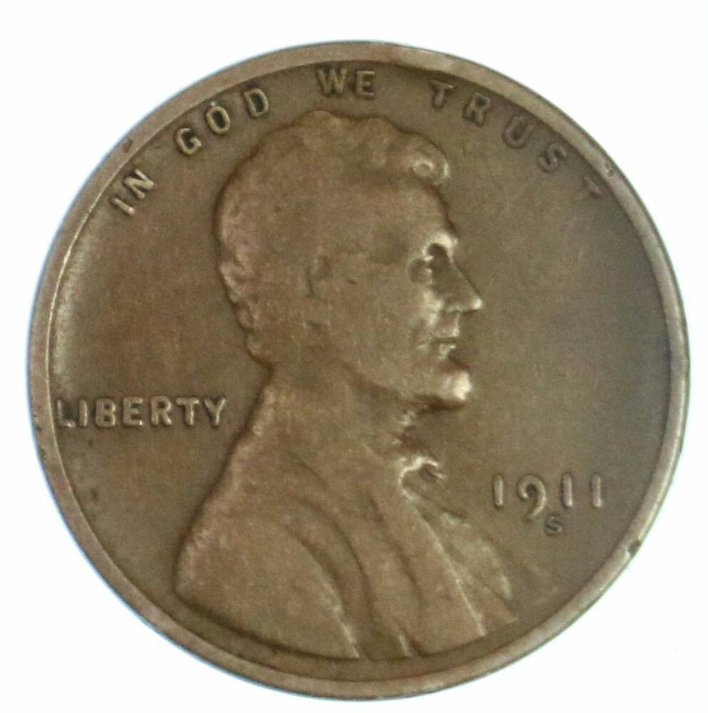 Semi Key Date 1911 S Lincoln Wheat Cent Early Us Copper