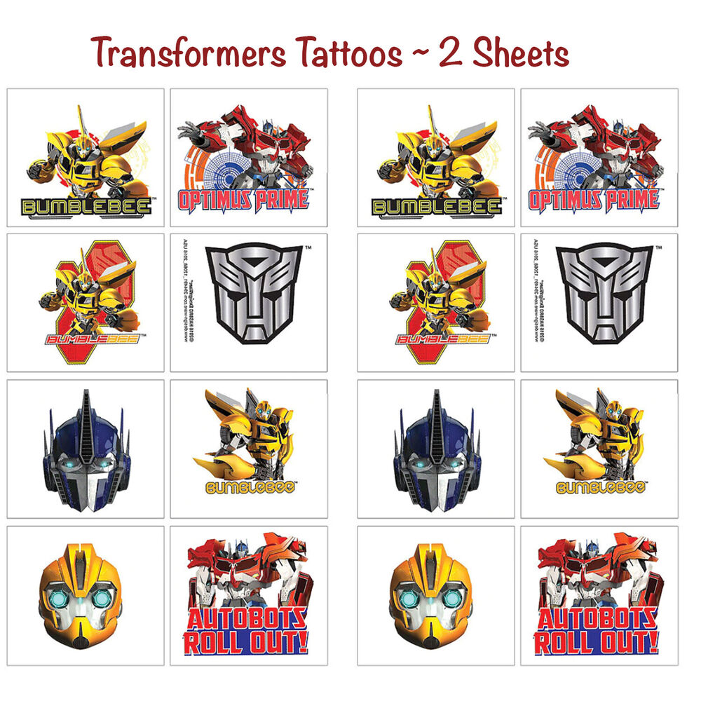 32ct transformers temporary tattoos birthday decorations for Tattoo party ideas
