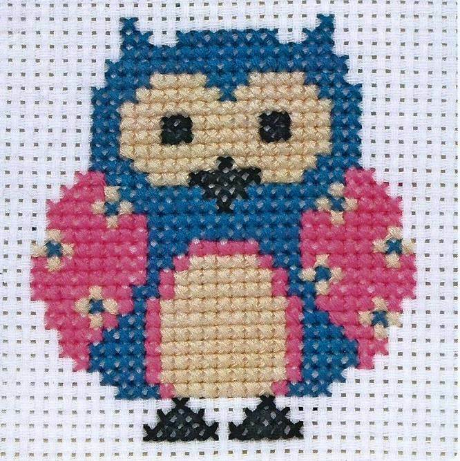 Anchor beginners st cross stitch kit zoe owl ebay
