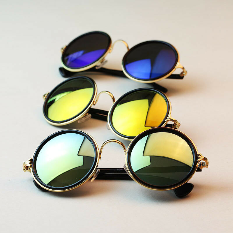 New Fashion Hippie Retro HD Sunglasses Round Vintage