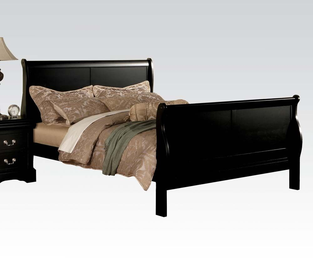 Louis Philippe Black 1pc Bedroom Queen King Full Twin Bed Home Furniture Set Ebay