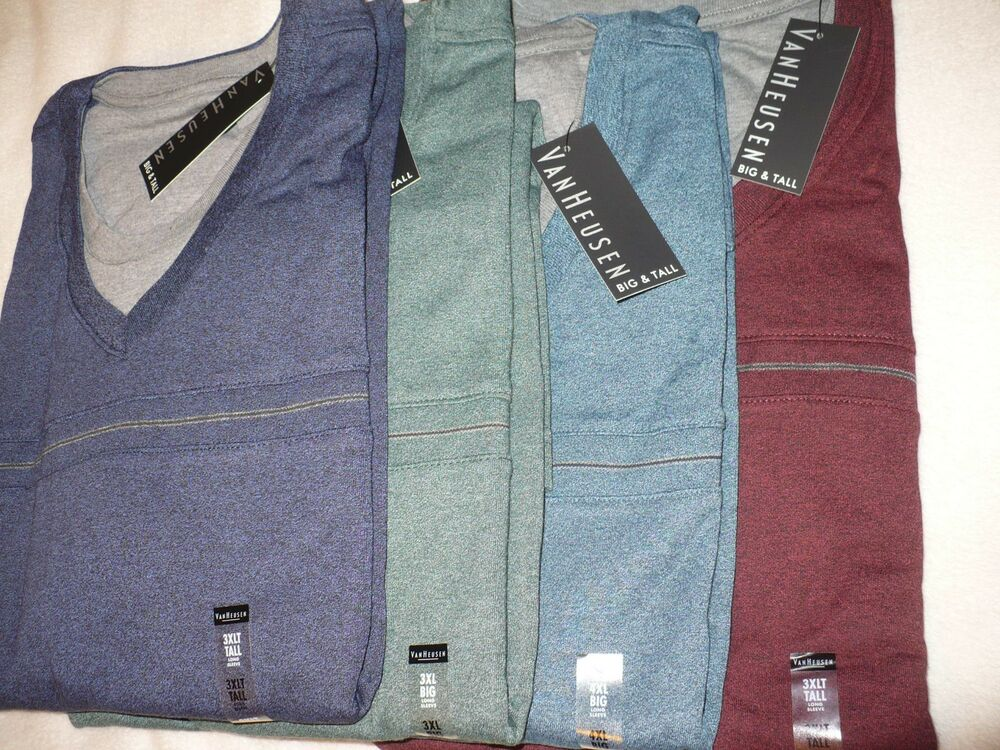 55 New Nwt Van Heusen Mens Big Tall V Neck Pullover