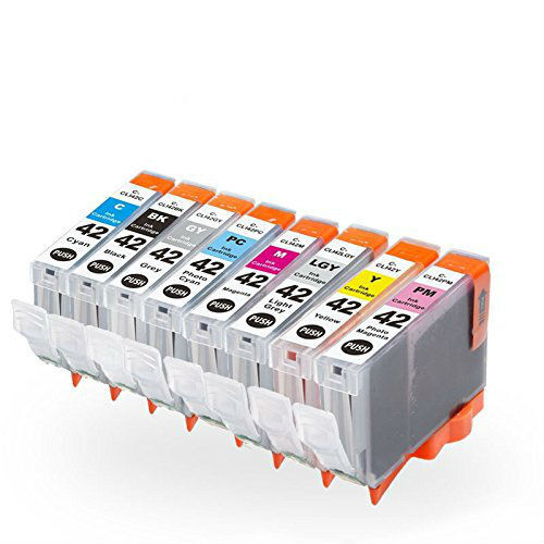Combo 8-PACK CLI-42 Black/Color Ink Cartridge Set for ...