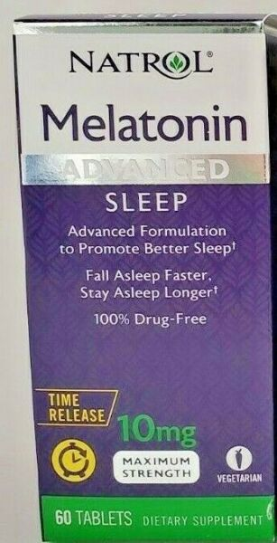Natrol Melatonin Time Release 10mg Tablets 60 Count - Expiration Date 05-2020
