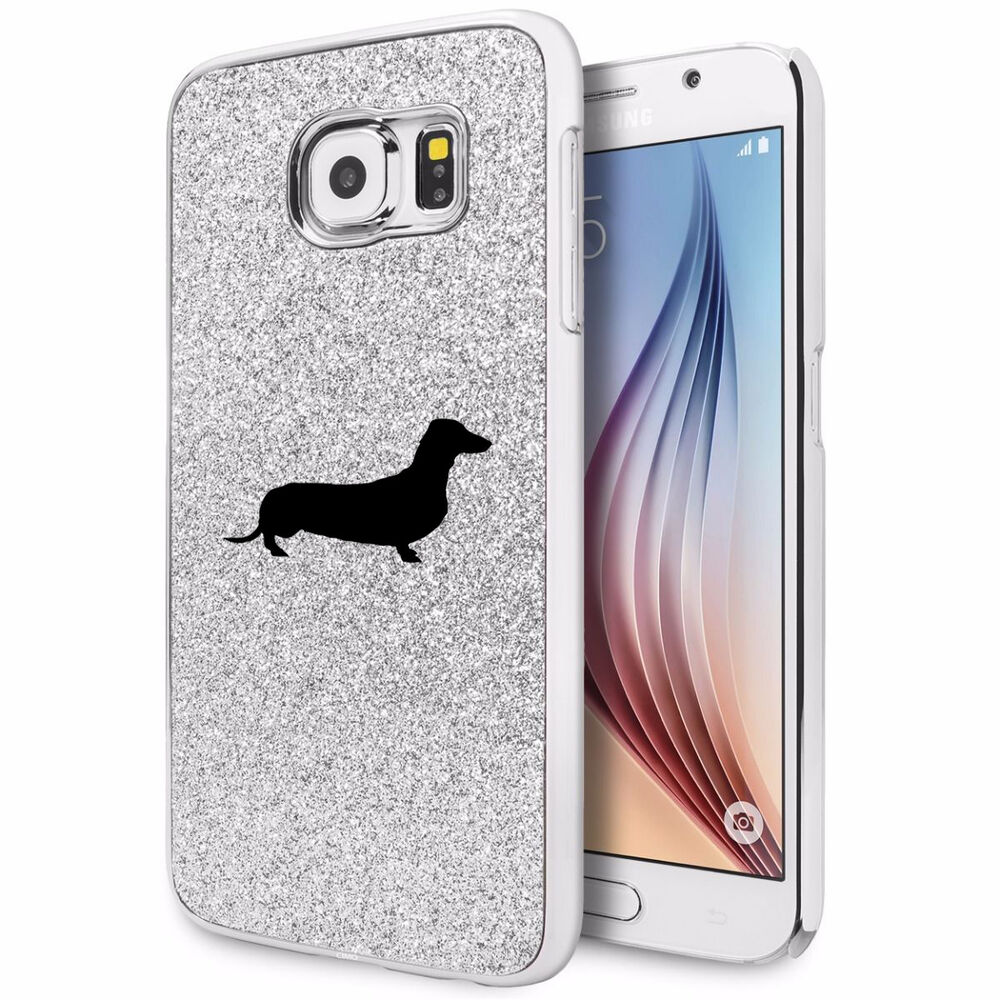 for samsung galaxy s4 s5 s6 edge glitter bling hard case cover dachshund dog ebay. Black Bedroom Furniture Sets. Home Design Ideas