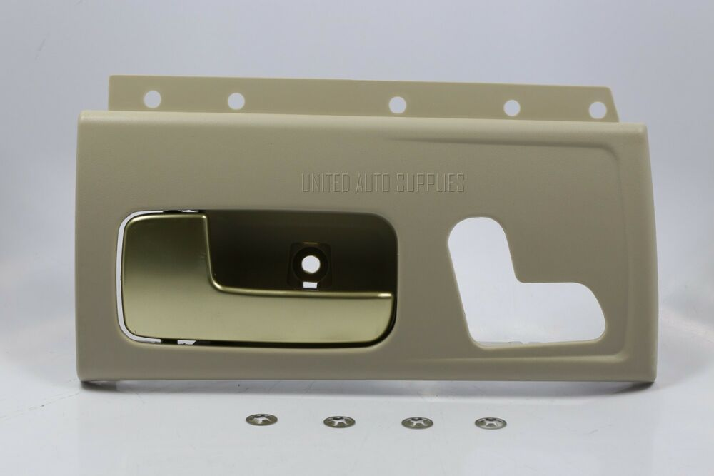 New tan gold inside door handle front lh w kit for 03 - Lincoln town car interior door parts ...