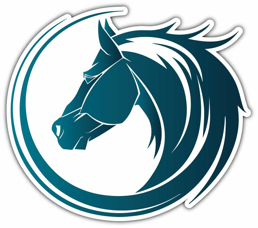 Horse Head Tribal Mustang Car Bumper Vinyl Sticker Decal 5