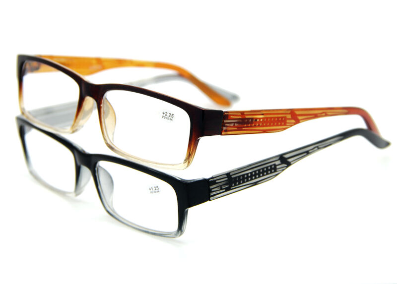 2 Colors Tinted Gradient Frame Reading Glasses Readers ...