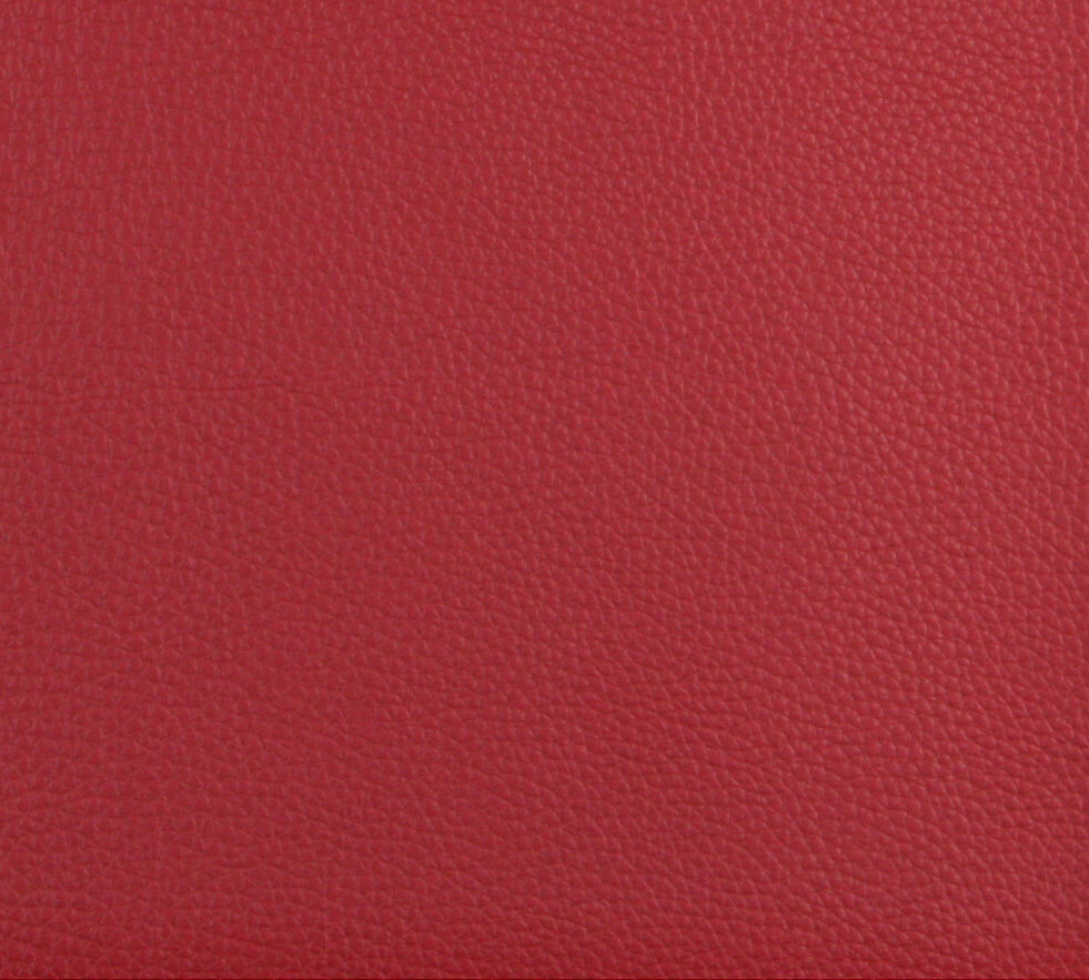 Garnet red animal skin look leather hide grain vinyl for Red leather fabric