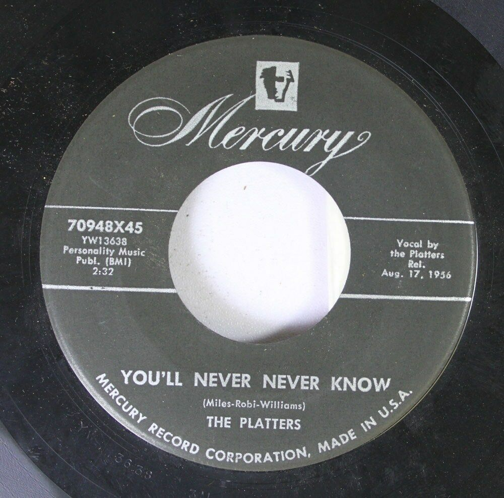 Rock 45 The Platters You Ll Never Never Know It Isn T