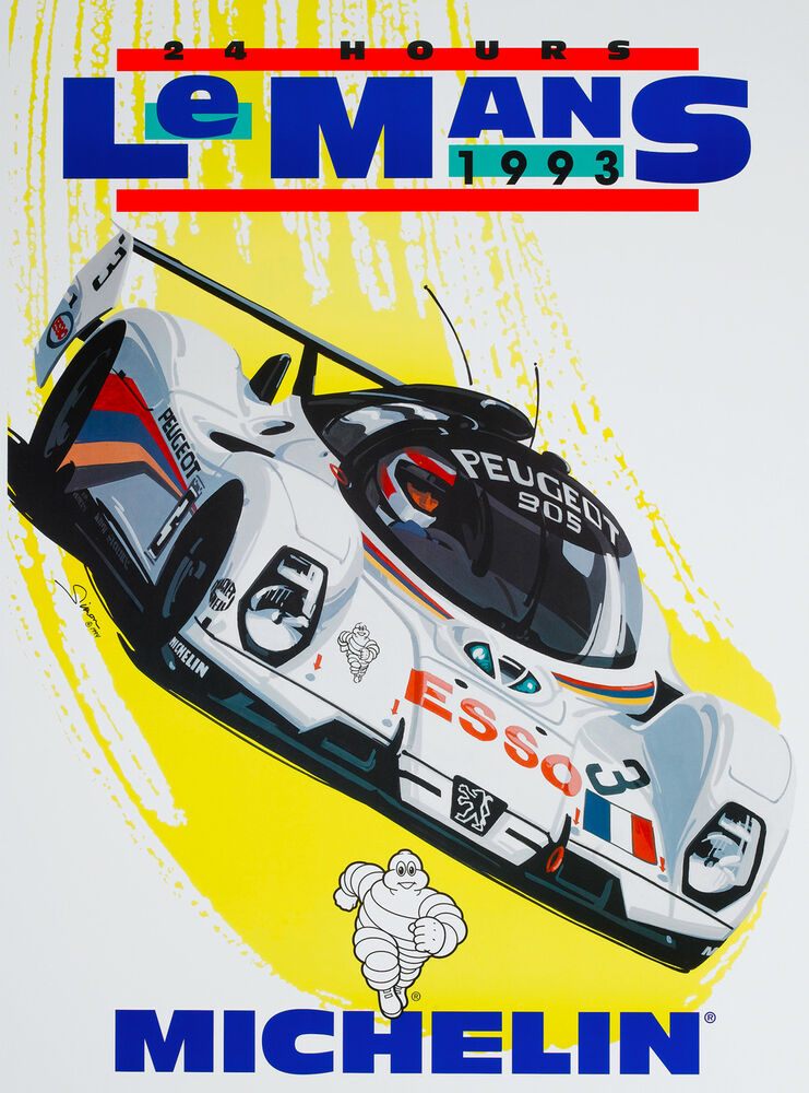 1993 24 hours le mans france automobile race car for Garage automobile le mans