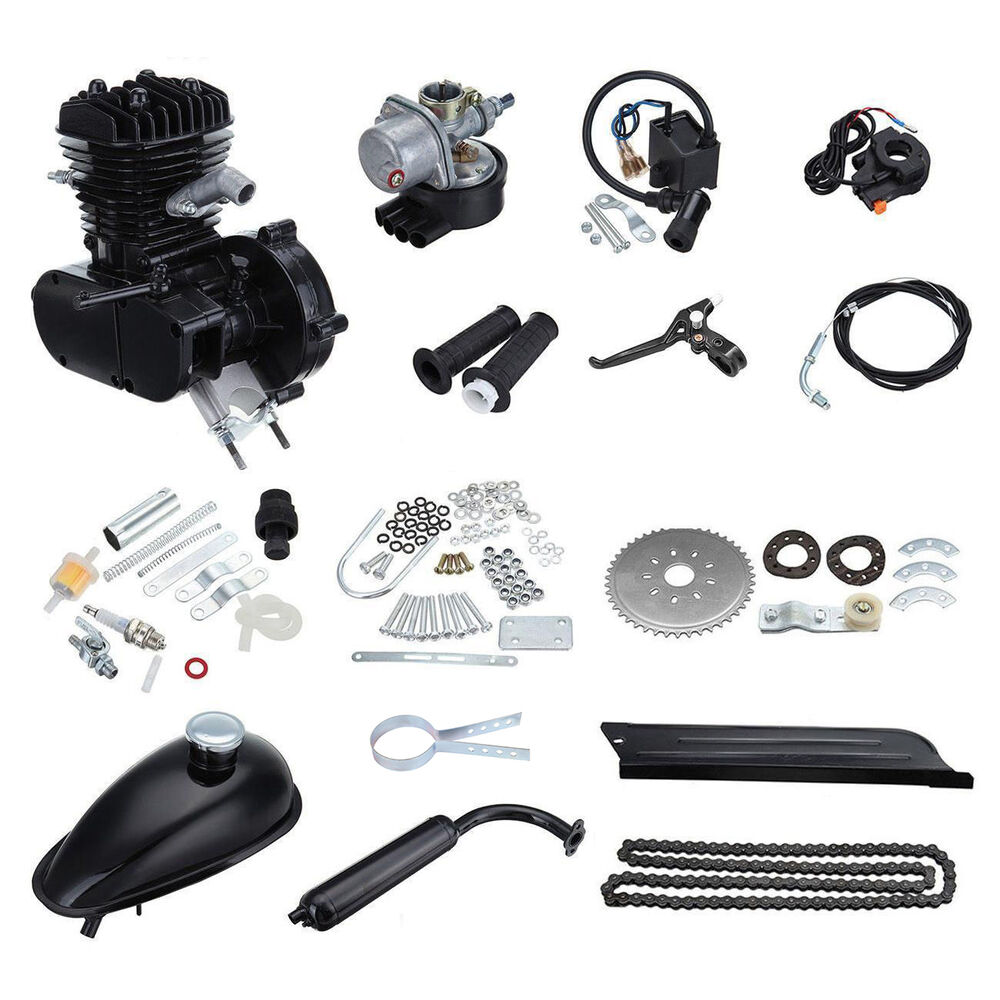 50cc Cycle Petrol Gas Motor Bicycle Engine Complete Kit