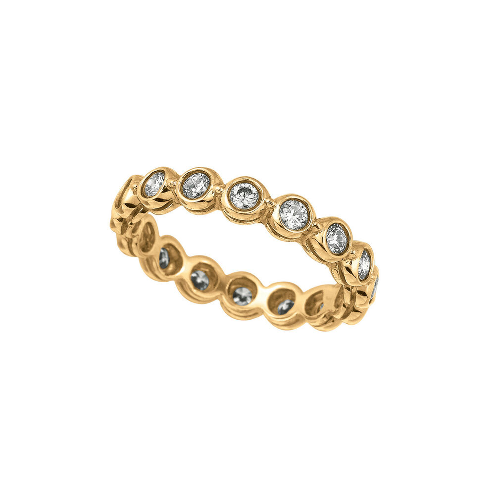 K Yellow Gold Diamond Eternity Band