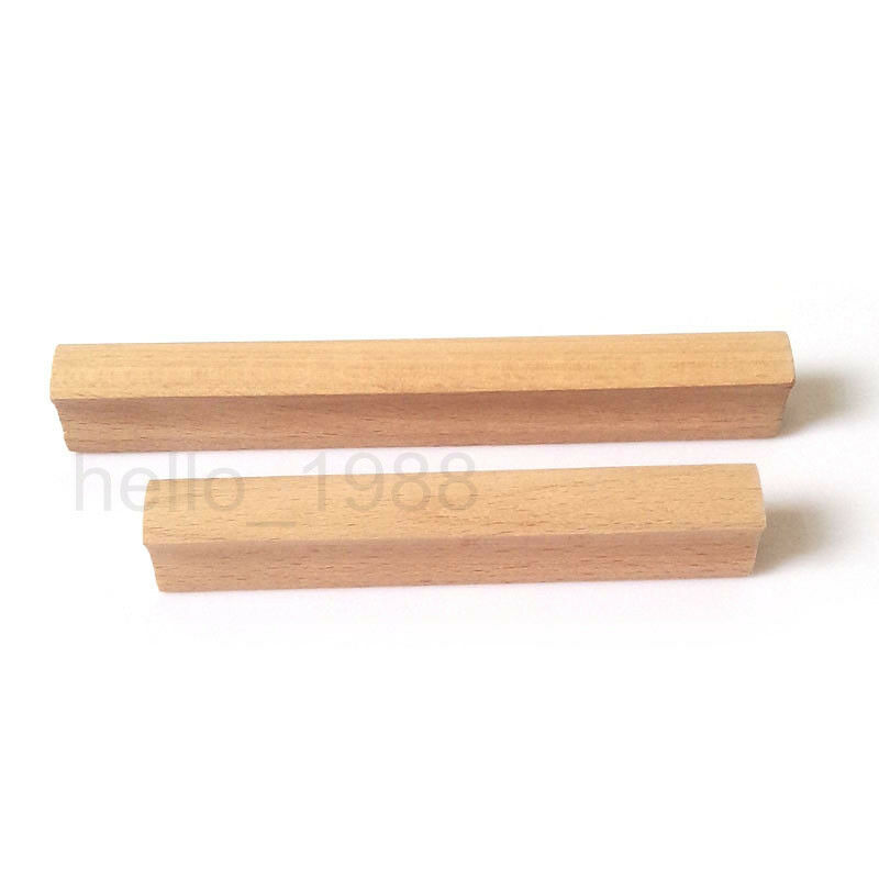 Wood Kitchen Handles: No Paint Wooden Cabinet Handle Pull Cupboard Closet Drawer