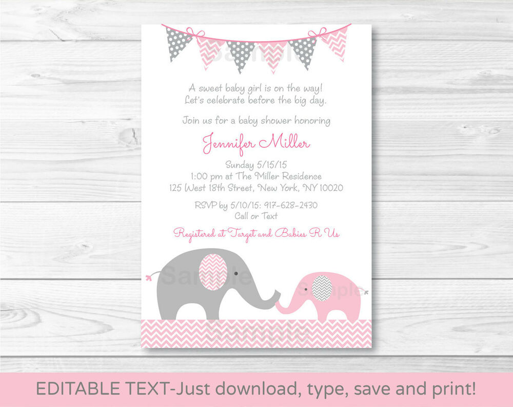 Gray And Yellow Baby Shower Invitations as amazing invitation layout