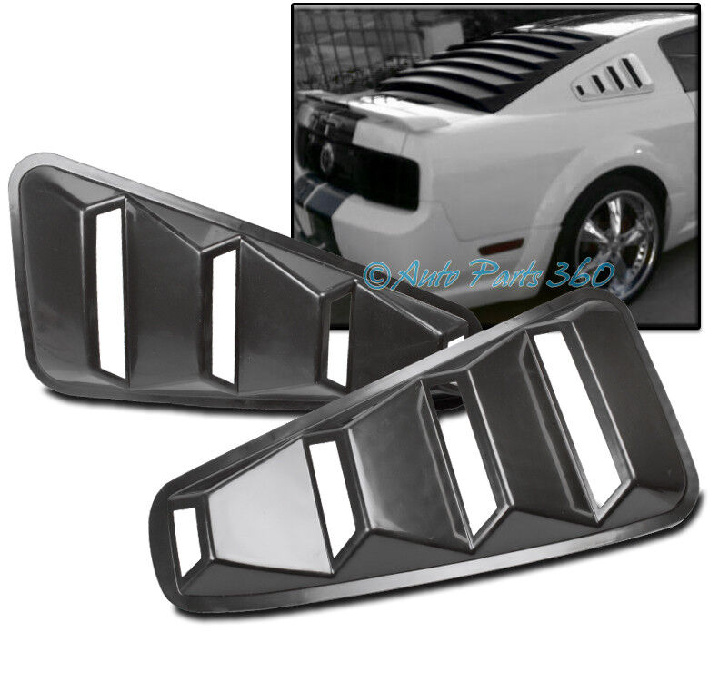 05 14 ford mustang coupe quarter 1 4 side vent rear window for 05 mustang rear window louvers