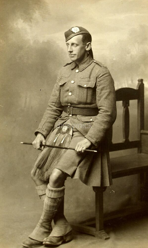 British Soldier 1921 London Scottish Kilt Army Empire 7x4