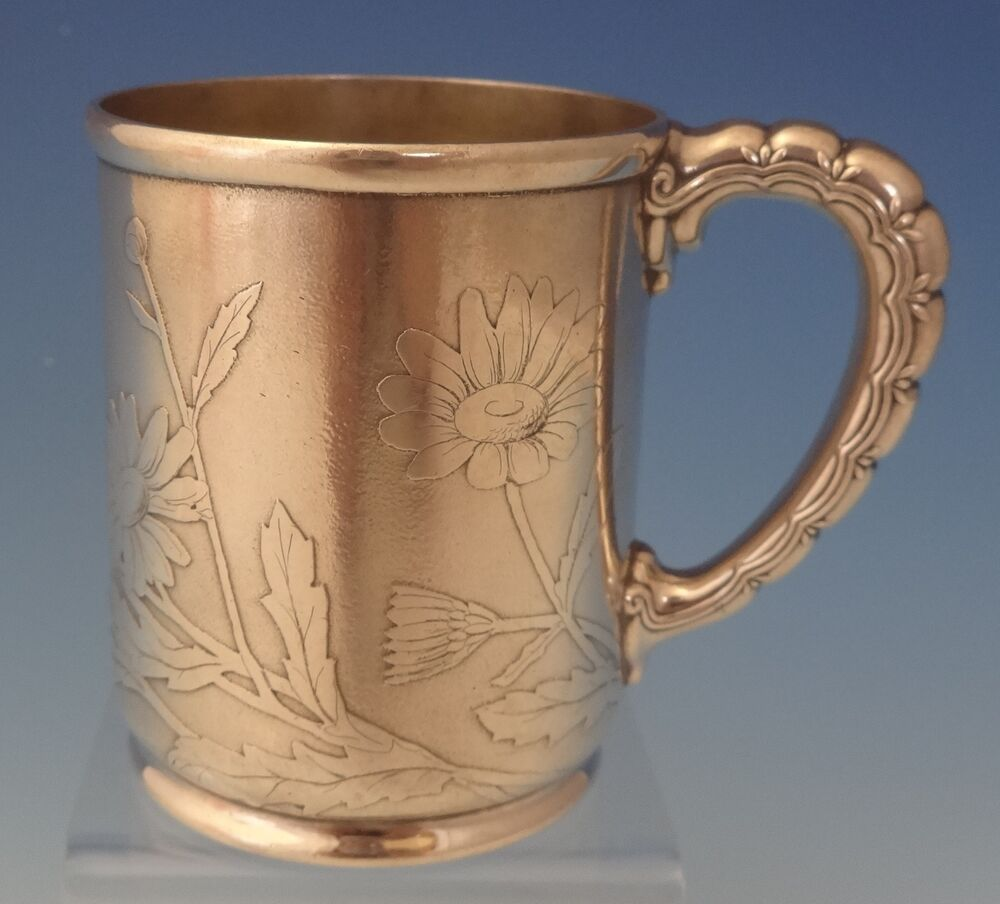 Vine By Tiffany Amp Co Sterling Silver Baby Cup Acid Etched