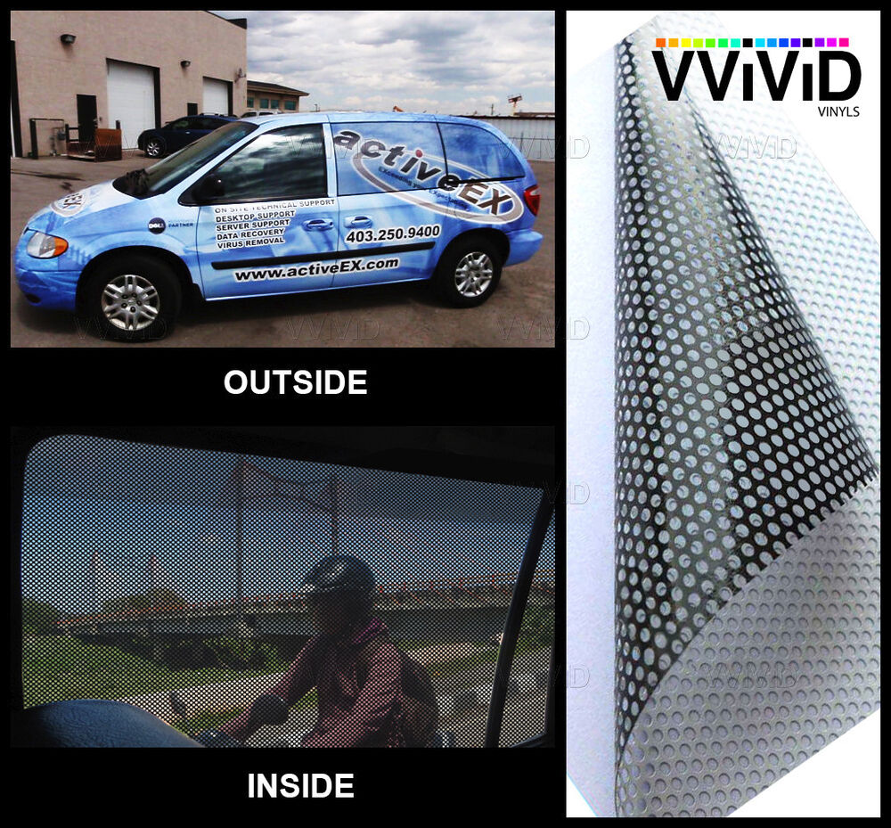 Perforated One Way Vision Print Media Vinyl 100ft X54