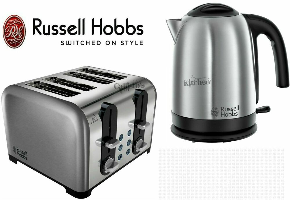 stainless steel kettle and toaster sets russell hobbs. Black Bedroom Furniture Sets. Home Design Ideas