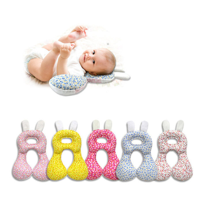 Newborn Baby Infant Anti Roll Neck Pillow Prevent Flat