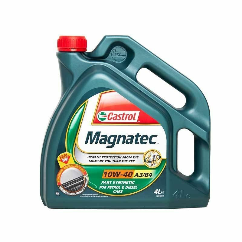 Castrol magnatec 10w40 part synthetic car engine oil 4l 4 for Motor oil for my car