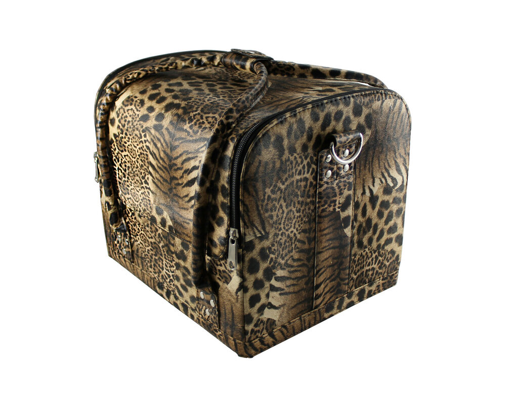 beauty case kosmetikkoffer multikoffer schminkkoffer nagelstudio set leopard ebay. Black Bedroom Furniture Sets. Home Design Ideas