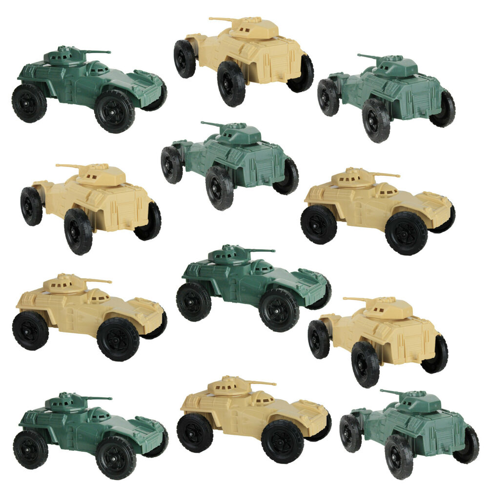 Toy Army Cars : Lot of timmee processed plastic armored cars tim mee
