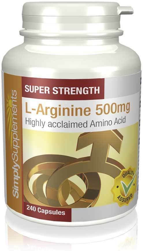 Simply Supplements L-Arginine 500mg 240 Capsules (E465) | eBay