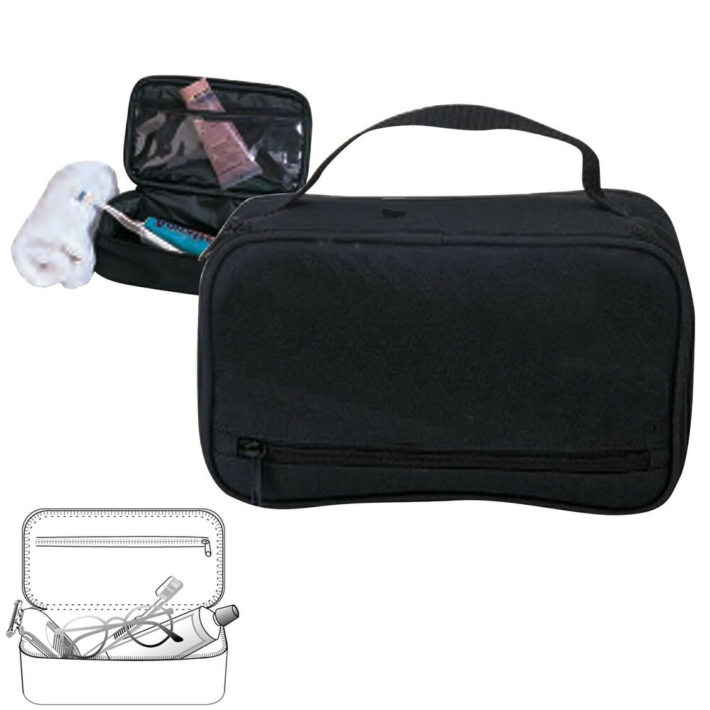 Black travel kit organizer accessories bathroom cosmetics toiletry