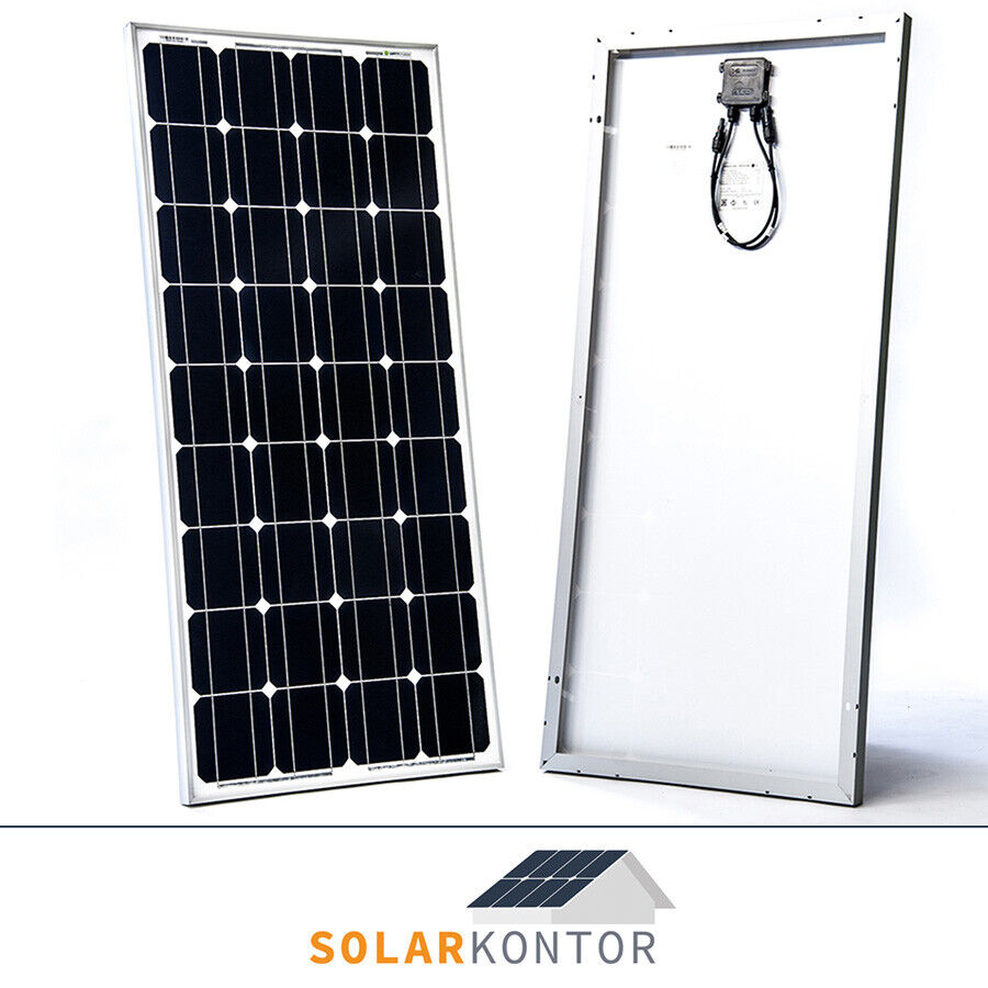 100w wattstunde solarmodul pv solarpanel 12v camping. Black Bedroom Furniture Sets. Home Design Ideas