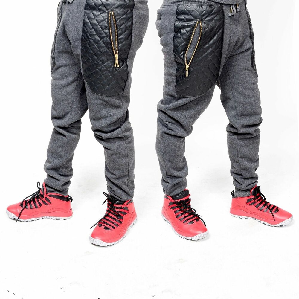 Leather Joggers Men UK