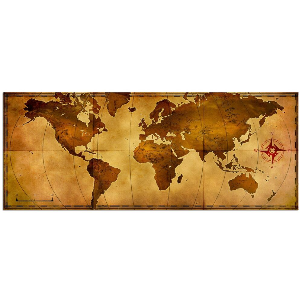 Old World Map Rustic Metal Wall Art Aged Antique Style Nautical Decor Travel Art Ebay