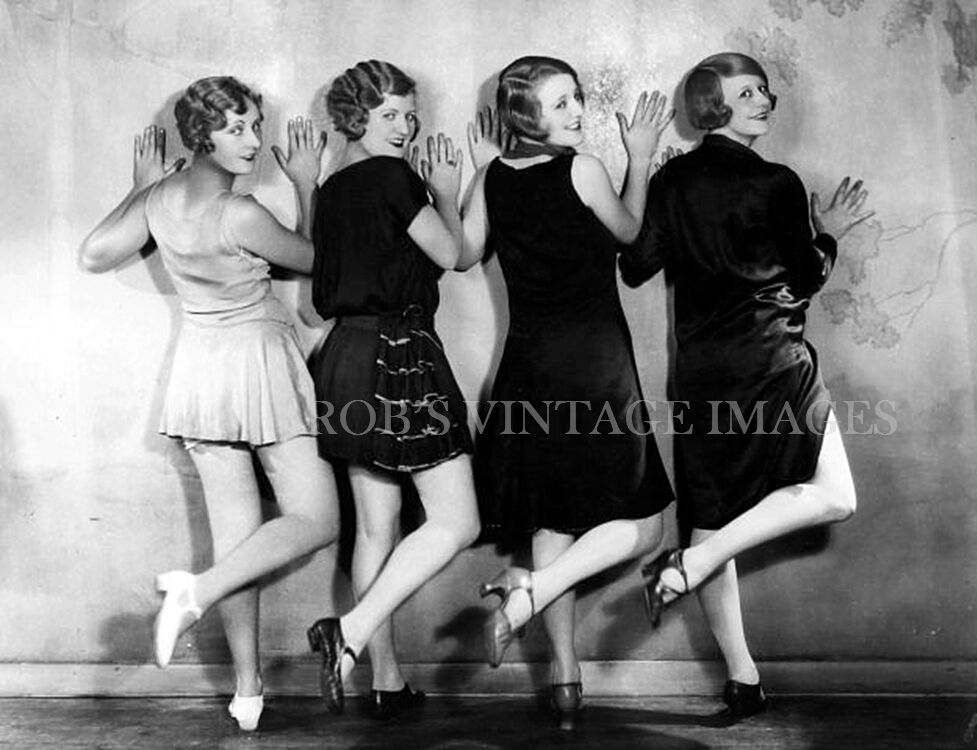 Vintage 4 Ladies Dancing Charleston Photo 1920s # 2