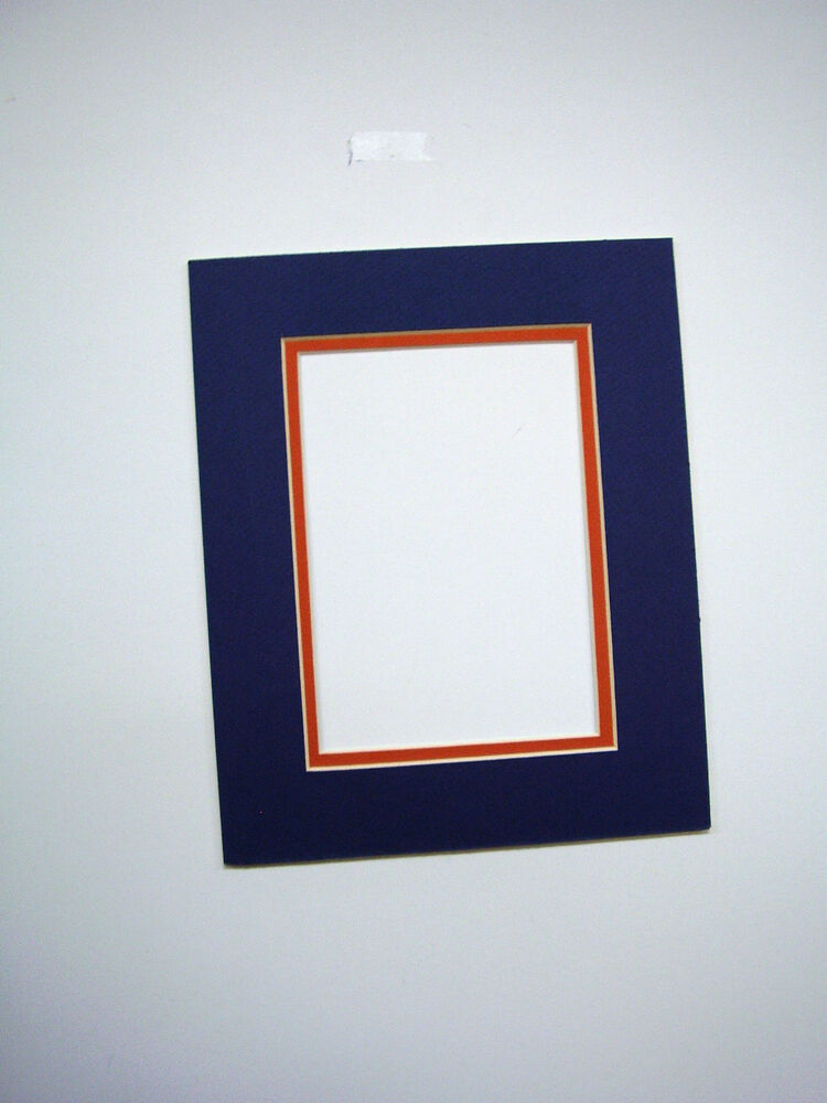 Picture Mat Blue With Orange 11x14 For 8 5x11 Document