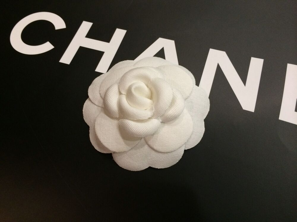 AUTHENTIC Chanel Camellia Flower Fabric Sticker Decal   eBay