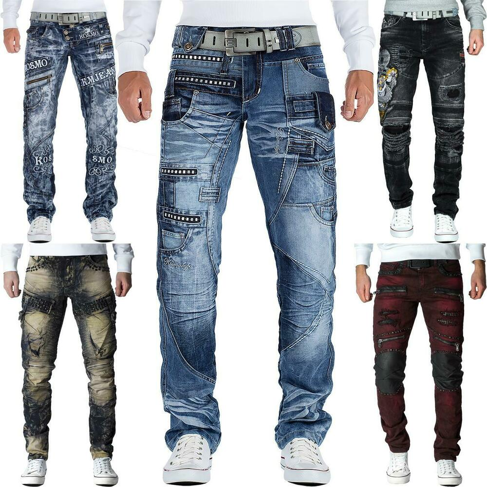 herren jeans hose mens pants cargo straight fit denim. Black Bedroom Furniture Sets. Home Design Ideas