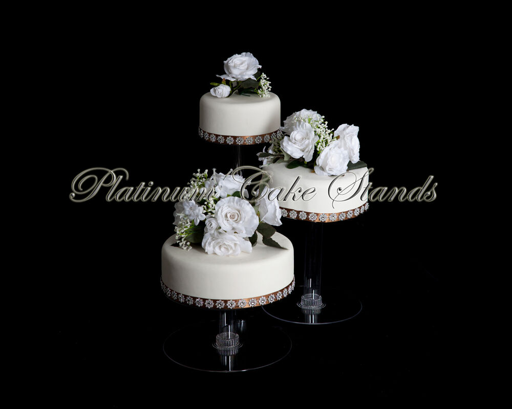 3 tier cascade wedding cake stand style r304 ebay. Black Bedroom Furniture Sets. Home Design Ideas