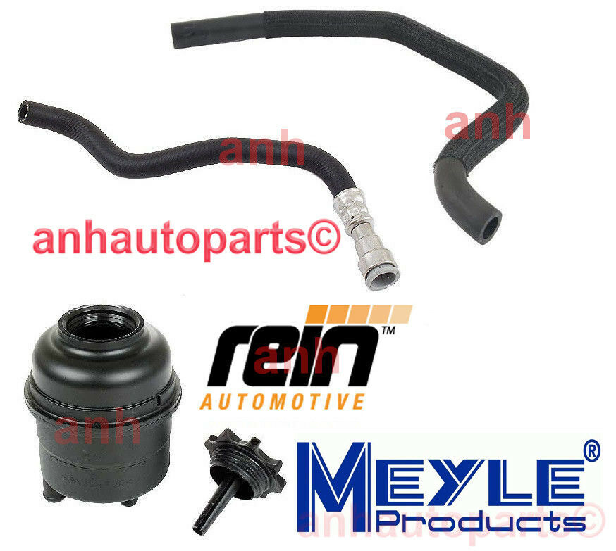 Bmw E46 Power Steering Kit Reservoir Pressure Amp Return Hose Ebay