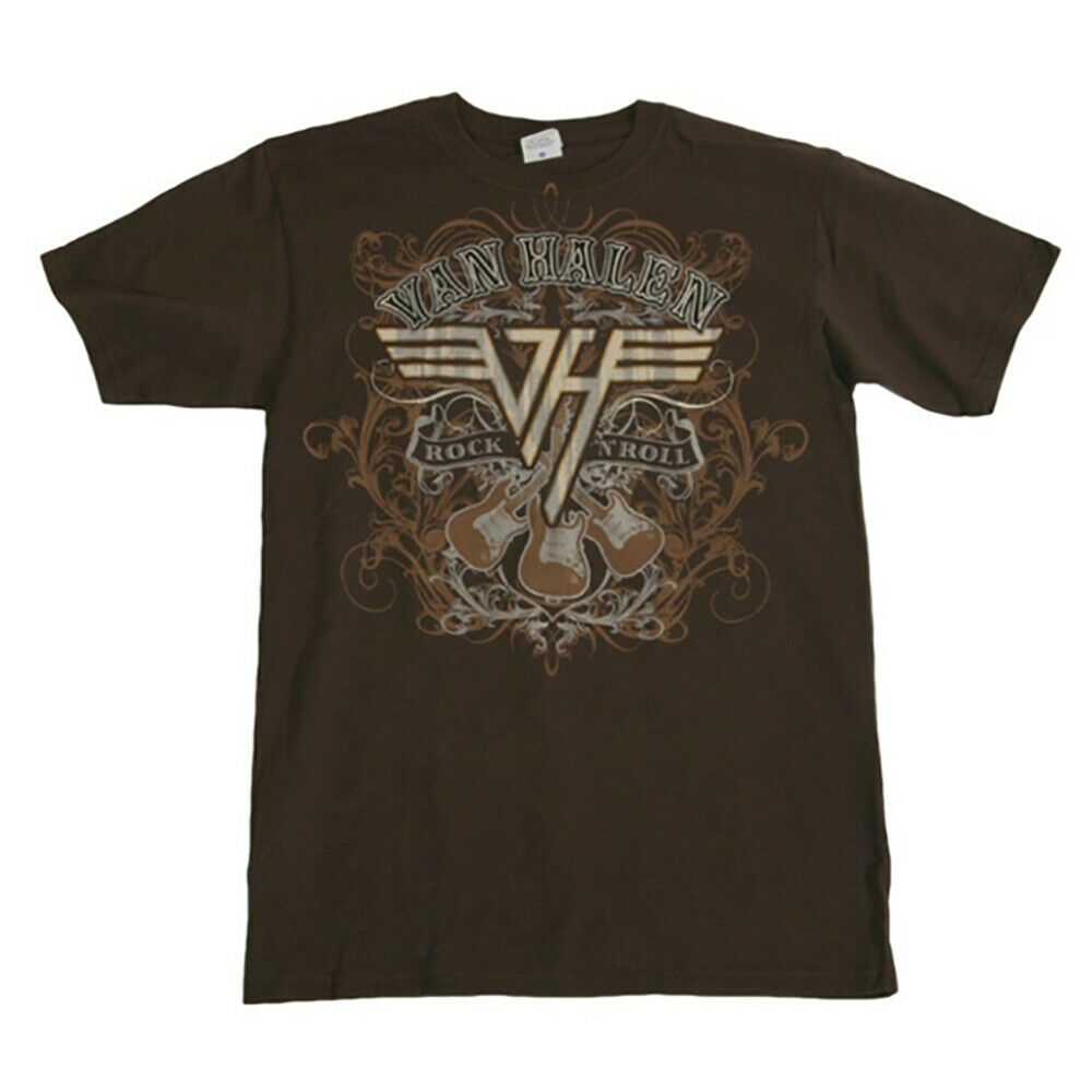van halen rock n roll t shirt new authentic rock tee s m l. Black Bedroom Furniture Sets. Home Design Ideas
